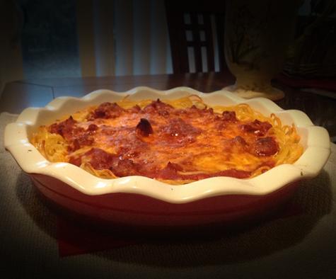 Recipe: Spaghetti Pie